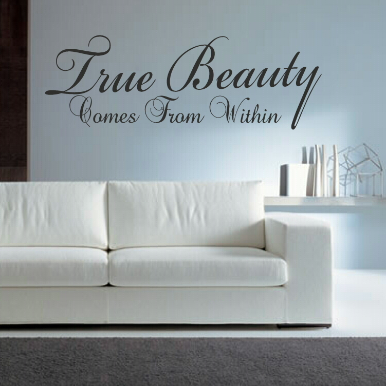 28 Beauty Within Wall Sticker Wall Woman Hair Wall Decals Girl Hairdressing Salon Beauty