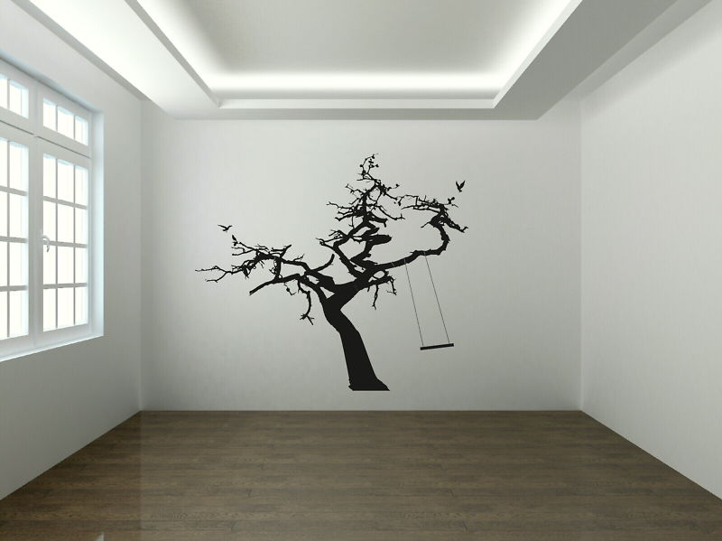 Large Tree And Swing Wall Decal