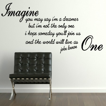 John Lennon Imaginethe World Will Live As One Quote