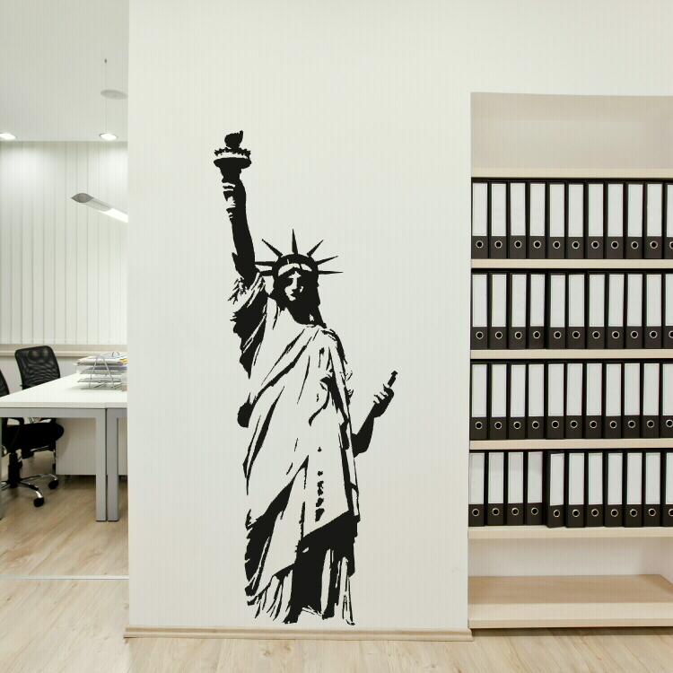 Lovely ... Exceptional Statue Of Liberty Wall Sticker Awesome Ideas