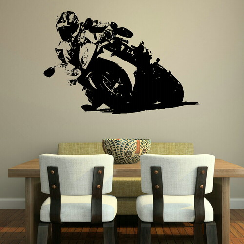 get into gear with motor bike wall stickers